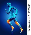 3d render of a blue male... | Shutterstock . vector #311573849