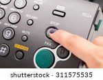 fax machine close up  office... | Shutterstock . vector #311575535