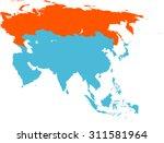 map of russia | Shutterstock .eps vector #311581964