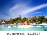 beautiful vast pool of a... | Shutterstock . vector #3115837