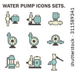 vector icon of electric water... | Shutterstock .eps vector #311589341