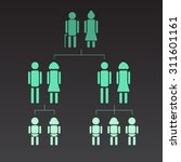 illustration of genealogical... | Shutterstock .eps vector #311601161