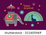 deepavali diwali elements... | Shutterstock .eps vector #311605469