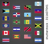 world flags collection  north... | Shutterstock .eps vector #311607041