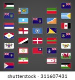 world flags collection  regions ... | Shutterstock .eps vector #311607431