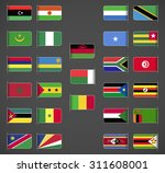 world flags collection  africa  ... | Shutterstock .eps vector #311608001