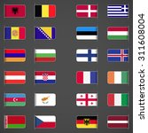 world flags collection  europe... | Shutterstock .eps vector #311608004