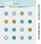 set of colorful flat icons... | Shutterstock .eps vector #311611145