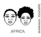 africa. portrait of africans....   Shutterstock .eps vector #311616041