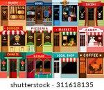 flat style cafe restaurant... | Shutterstock .eps vector #311618135