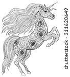 Hand Drawn Magic Unicorn For...