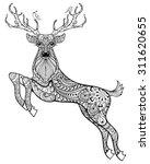 Deer. Hand Drawn Christmas...