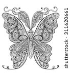 Hand Drawn Magic Butterfly For...