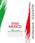 viva mexico  16 th of september.... | Shutterstock .eps vector #311624759
