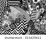 vector illustration  black and...