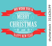 christmas light vector... | Shutterstock .eps vector #311626199