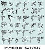 36 corners. vector | Shutterstock .eps vector #311633651