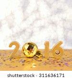 2016 year golden figures on a...   Shutterstock . vector #311636171