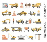 flat icons   construction | Shutterstock .eps vector #311638487