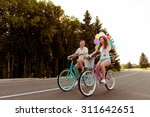couple in love together to ride ... | Shutterstock . vector #311642651