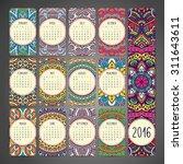 Calendar 2016. Vintage...