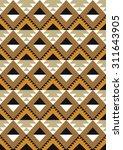 seamless ethnic pattern design. ...   Shutterstock .eps vector #311643905