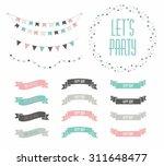 set of celebration retro... | Shutterstock .eps vector #311648477