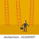 man choosing the stairway   Shutterstock .eps vector #311650337