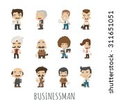 set of businessman  eps10... | Shutterstock .eps vector #311651051