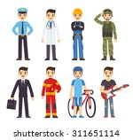 cartoon men of 8 different... | Shutterstock .eps vector #311651114