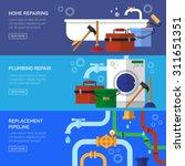 plumbing repair fix the clog... | Shutterstock .eps vector #311651351