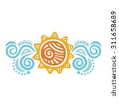 sea and sun vector illustration | Shutterstock .eps vector #311658689