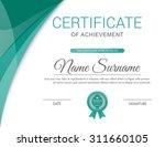 vector certificate template. | Shutterstock .eps vector #311660105