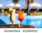 two cocktails on luxury... | Shutterstock . vector #311664311