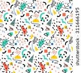 seamless geometric pattern in... | Shutterstock .eps vector #311666195