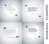 four simple quote templates | Shutterstock .eps vector #311666981