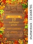 autumn festival template.... | Shutterstock .eps vector #311668781
