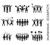 crowd vector icon set | Shutterstock .eps vector #311669174