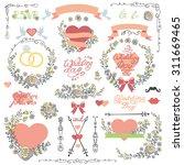 wedding floral set for... | Shutterstock .eps vector #311669465