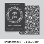 rustic wedding invitation card... | Shutterstock .eps vector #311670584