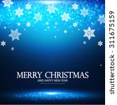 christmas   new year banner... | Shutterstock .eps vector #311675159