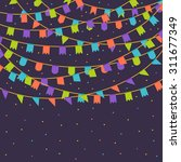 vector template with a carnival ... | Shutterstock .eps vector #311677349