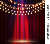 empty scene with stage curtain  ...   Shutterstock .eps vector #311677355