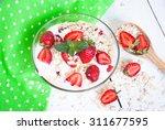 healthy foods. homemade yogurt...   Shutterstock . vector #311677595