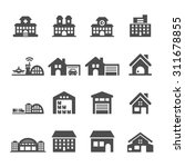 building icon set 7  vector... | Shutterstock .eps vector #311678855