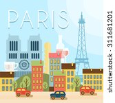 welcome to france. attractions... | Shutterstock .eps vector #311681201