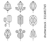 graphical leaf of the tree set  ... | Shutterstock .eps vector #311681765