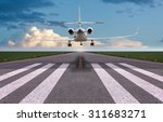 rear view of a private jet... | Shutterstock . vector #311683271