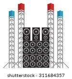 big modern concert and festival ...   Shutterstock .eps vector #311684357