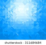 blue triangle background | Shutterstock . vector #311684684